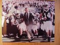Picture: Joe Paterno runs with his Penn State Nittany Lions onto the field original 8 X 10 photo.