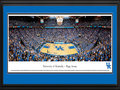 "Picture: Kentucky Wildcats Basketball Rupp Arena 13.5 X 40 panoramic print professionally double matted in team colors and framed to 18 X 44. This panorama, taken at Rupp Arena by Christopher Gjevre, features the University of Kentucky Wildcats basketball team playing to a sellout crowd. Opening in 1976, this off-campus arena is the largest ever built for basketball. Its unique design consists of bleachers in the upper bowl, without luxury suites or a center-mounted scoreboard. It seats 23,500, frequently packing in over 24,000 fans with a student standing-room area called the ""eRUPPtion Zone."" This intimidating venue consistently ranks first in home game attendance. Kentucky basketball began in 1903 and has an unprecedented winning history. Founded in 1865 in Lexington, Kentucky, the University enrolls over 27,000 students."