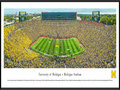 Picture: Just out from 2015 as the Jim Harbaugh era for the Michigan Wolverines begins with a 35-7 trouncing of Oregon State on September 12, 2015! Michigan Wolverines Michigan Stadium 13.5 X 40 panoramic poster professionally framed to 13.75 X 40.25. This panorama, taken by James Blakeway, captures the University of Michigan Wolverines in their home opener against the Oregon State University Beavers. It marks the first home game for J. Ira and Nicki Harris Family Head Football Coach Jim Harbaugh. The game also kicks off a year-long celebration of Michigan Athletics' 150th Anniversary. The Michigan Wolverines intercollegiate competition officially began its rich and storied tradition in the season of 1865-66 and, since that time, the athletic teams have claimed many national championships, beginning with football�s 1901 national title.