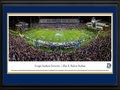 Picture: Just out after the win over Appalachian State! Georgia Southern Eagles Paulson Stadium print itself measures 13.5 X 40 inches and is double matted in team colors and framed to 18 X 44. It is on Grade A, pH neutral, heavy art stock. High quality panoramic picture frames covered with tempered glass. Print mounted and backed with foam core to prevent future warping from atmospheric and seasonal changes. This print comes double matted in GSU team colors and framed. The total measurement of the double matted and framed print is 18 inches by 44 inches. This panorama, taken by Sacha Griffin, captures the Georgia Southern University Eagles Football team playing host to Appalachian State in the newly expanded Allen E. Paulson Stadium. The Eagles were victorious in their first-ever Sun Belt Conference home game. One of the finest facilities of its kind, Paulson Stadium features a new mid-deck which brings capacity to 25,000. The new 50,000 square foot Ted Smith Family Football Center encloses the east endzone with a dynamic high-definition videoboard, adding to the gameday experience. Winners of an unprecedented six national championships at the FCS level, Georgia Southern was invited to join the FBS Sun Belt Conference in 2013.
