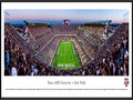 Picture: Just out from the 2015 season! Texas A & M Aggies Kyle Field 13.5 X 40 panoramic poster professionally framed to 13.75 X 40.25. This panorama, taken by Christopher Gjevre, features the stunning $485 million redevelopment of Kyle Field and the rich traditions that accompany an evening of Texas A&M football. The Spirit of Aggieland is alive and well at the Home of the 12th Man. This Texas A&M tradition is familiar to sports fans throughout the country and came to life in 1922, when the Aggie football team suffered so many injuries in the Dixie Classic that the coach was compelled to call a student � E. King Gill � out of the stands to suit up and stand on the sidelines, ready to play. Today, Aggies continue to stand ready and willing to support their team, as evidenced by more than 31,000 students standing throughout the entire game.