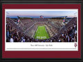 Picture: Just out from the 2015 season! Texas A & M Aggies Kyle Field 13.5 X 40 panoramic poster professionally double matted in team colors and framed to 18 X 44. This panorama, taken by Christopher Gjevre, features the stunning $485 million redevelopment of Kyle Field and the rich traditions that accompany an evening of Texas A&M football. The Spirit of Aggieland is alive and well at the Home of the 12th Man. This Texas A&M tradition is familiar to sports fans throughout the country and came to life in 1922, when the Aggie football team suffered so many injuries in the Dixie Classic that the coach was compelled to call a student � E. King Gill � out of the stands to suit up and stand on the sidelines, ready to play. Today, Aggies continue to stand ready and willing to support their team, as evidenced by more than 31,000 students standing throughout the entire game.