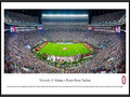 Picture: Just out from Alabama's 30-16 win over LSU on November 7, 2015! Alabama Crimson Tide Bryant Denny Stadium panoramic poster professionally framed. This panorama, taken by James Blakeway, captures two top-ranked teams in an exciting night of football at historic Bryant-Denny Stadium, as the Alabama Crimson Tide played host to an SEC West opponent, LSU. While the clash between these two powerhouses has become a bit of a rivalry as the intensity and competitiveness has grown, Alabama continues to lead the overall series. The sellout crowd for this national interest game illustrates the loyalty of the Crimson Tide football fan base, touted to be the most committed and passionate fans in college football.
