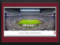 Picture: Just out from Alabama's 30-16 win over LSU on November 7, 2015! Alabama Crimson Tide Bryant Denny Stadium panoramic poster professionally double matted in team colors and framed. This panorama, taken by James Blakeway, captures two top-ranked teams in an exciting night of football at historic Bryant-Denny Stadium, as the Alabama Crimson Tide played host to an SEC West opponent, LSU. While the clash between these two powerhouses has become a bit of a rivalry as the intensity and competitiveness has grown, Alabama continues to lead the overall series. The sellout crowd for this national interest game illustrates the loyalty of the Crimson Tide football fan base, touted to be the most committed and passionate fans in college football.