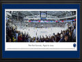 Picture: Penn State Nittany Lions Pegula Ice Arena 13 X 40 panoramic print professionally double matted in team colors and framed to 18 X 44. This panorama, taken by Christopher Gjevre, honors the official dedication and opening game at Pegula Ice Arena on October 11, 2013. In a fitting tribute, the Penn State men�s hockey team christened the new arena with a 4-1 win over the Army Black Knights�. The new $90 million state-of-the-art hockey palace has an official capacity of more than 6,000, including 1,000 student tickets. The building will also host many other events including youth and adult hockey leagues, education programs and figure skating sessions. The new arena went from dream to reality, as the result of a donation from Terry and Kim Pegula, who made the largest single gift in Penn State history.