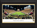 "Picture: Wake Forest Demon Deacons BB&T Field 13 X 40 panoramic print professionally double matted in team colors and framed to 18 X 44. This panorama, taken by James Blakeway, features the Wake Forest Demon Deacons battling the opponent on home turf at BB&T Field. In 1923, a school newspaper reporter first referred to the team as ""Demon Deacons,"" in recognition of what he termed their ""devilish"" play and fighting spirit. The name has, of course, remained as one of the most unique in America and continues to serve Wake Forest well, as the smallest school to ever compete in the Bowl Championship Series. The university received its name from its original location in Wake Forest, north of Raleigh, North Carolina. In 1956, the university moved to its current location, north of downtown Winston Salem."