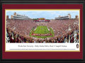 Picture: Just out the most recent panoramic of Bobby Bowden Field at Doak S. Campbell Stadium from October 31, 2015 as Florida State beat Syrancuse 45-21! Florida State Seminoles Bobby Bowden Field at Doak S. Campbell Stadium 13 X 40 panoramic print professionally double matted in team colors and framed to 18 X 44. This panorama, taken by James Blakeway, spotlights the Florida State Seminoles celebrating a glorious afternoon of football at Bobby Bowden Field at Doak S. Campbell Stadium. This nationally televised Florida State victory celebrates the indomitable spirit of the Seminole people and those who have adopted that spirit as a symbol for their university. The victory on Saturday, October 31st was the 531st in the proud history of Seminole football and extended the nation�s longest streak of consecutive winning seasons. The FSU football program began in 1947 and today, is one of the top and most recognizable programs in the nation.