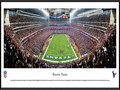 Picture: This panorama of Reliant Stadium has been professionally framed to 13.75 X 40.25. It captures a pivotal moment for the Houston Texans during their 19-13 win over the Cincinnati Bengals in the AFC Wild Card round of the NFL playoffs. When the Houston Oilers departed the city after the 1996 season, many fans thought the NFL would never return. But in 1999, the NFL awarded Houston the 32nd franchise. The Texans began play on September 8, 2002, at Reliant Stadium, the first retractable roof stadium in the NFL. It was a magical night for the Texans as they beat the Dallas Cowboys 19-10. Fast-forward 10+ years and Texans' fans continue to pack Reliant Stadium, week after week, year after year. From the NFL Stadiums collection.