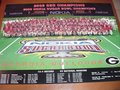 Picture: 2003 Georgia Bulldogs Sugar Bowl Team Poster taken at the Louisiana Superdome features David Pollack, David Greene, Fred Gibson and all the other SEC Champion Bulldogs