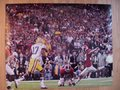 Picture: This is an original Alabama Crimson Tide 2011 BCS National Championship game photo of Jeremy Shelley kicking a field goal.