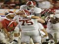 Picture: Alabama Crimson Tide original 2012 BCS National Champions 8 X 10 photo featuring A.J. McCarron and Barrett Jones hugging.