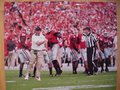 Picture: Jeremy Pruitt Georgia Bulldogs original 20 X 30 poster against Clemson. We are the copyright holders of this image and the quality and clarity is fantastic.