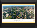Picture: Georgia Tech Yellow Jackets Bobby Dodd Stadium 13.5 X 40 panoramic print professionally double matted in team colors and framed to 18 X 44. This aerial panorama of Georgia Institute of Technology, taken by George Pearl, spotlights Bobby Dodd Stadium at Historic Grant Field. Originally built in 1913 by the Georgia Tech student body, it is the oldest on-campus stadium in NCAA Division I-A. Known as Grant Field since 1914, the name Bobby Dodd Stadium was added in April 1988, in honor of the legendary coach. A stadium expansion was completed in 2003, raising capacity to 55,000 seats. The Yellow Jackets football team, which began in 1892, has won a total of 15 ACC titles, 4 national titles and has played in 35 bowl games. With more than 18,000 students, Georgia Tech occupies 400 acres in the heart of Atlanta.