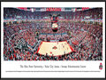 Picture: Ohio State Buckeyes basketball Value City Arena original 13.5 X 40 panoramic print framed to 13.75 X 40.25. This panorama, taken by Christopher Gjevre, captures the excitement of The Ohio State Buckeyes playing before a sold-out crowd at the Value City Arena � Jerome Schottenstein Center. The largest arena in the Big Ten with seating for 19,500 fans, Value City Arena opened in 1998 and pays tribute to Jerome Schottenstein, the late Columbus businessman and philanthropist. The Buckeyes played their first basketball game in 1898 and have attended the NCAA tournament every decade since the 1930's. The Ohio State University was established in 1870 and is ranked among the top 20 public universities with over 64,000 students. Its main campus is located in Columbus, Ohio.
