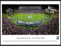 Picture: Just out after the win over Appalachian State! Georgia Southern Eagles Paulson Stadium print itself measures 13.5 X 40 inches and is framed to 13.75 X 40.25. It is on Grade A, pH neutral, heavy art stock. High quality panoramic picture frames covered with tempered glass. Print mounted and backed with foam core to prevent future warping from atmospheric and seasonal changes. This print comes double matted in GSU team colors and framed. The total measurement of the double matted and framed print is 18 inches by 44 inches. This panorama, taken by Sacha Griffin, captures the Georgia Southern University Eagles Football team playing host to Appalachian State in the newly expanded Allen E. Paulson Stadium. The Eagles were victorious in their first-ever Sun Belt Conference home game. One of the finest facilities of its kind, Paulson Stadium features a new mid-deck which brings capacity to 25,000. The new 50,000 square foot Ted Smith Family Football Center encloses the east endzone with a dynamic high-definition videoboard, adding to the gameday experience. Winners of an unprecedented six national championships at the FCS level, Georgia Southern was invited to join the FBS Sun Belt Conference in 2013.
