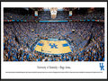"Picture: Kentucky Wildcats Basketball Rupp Arena 13.5 X 40 panoramic print professionally framed to 13.75 X 40.25. This panorama, taken at Rupp Arena by Christopher Gjevre, features the University of Kentucky Wildcats basketball team playing to a sellout crowd. Opening in 1976, this off-campus arena is the largest ever built for basketball. Its unique design consists of bleachers in the upper bowl, without luxury suites or a center-mounted scoreboard. It seats 23,500, frequently packing in over 24,000 fans with a student standing-room area called the ""eRUPPtion Zone."" This intimidating venue consistently ranks first in home game attendance. Kentucky basketball began in 1903 and has an unprecedented winning history. Founded in 1865 in Lexington, Kentucky, the University enrolls over 27,000 students."