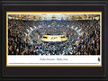 "Picture: Purdue Boilermakers Mackey Arena 13.5 X 40 panoramic poster professionally double matted in team colors and framed to 18 X 44. This panorama of Mackey Arena, taken by James Blakeway, highlights the Purdue Boilermakers men's basketball team playing before a sold-out crowd. Originally opened as Purdue Arena in 1967, it was renamed in 1972 to honor long-time athletics director and Purdue alum Guy ""Red"" Mackey. The arena stadium seats 14,123 fans and is considered one of the loudest in the nation. The men's basketball program started in 1896, competes in the Big Ten Conference and has won more league championships than any other school in the conference. Established in 1869 in West Lafayette, Indiana, the University today enrolls more than 39,000 students."
