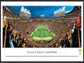 "Picture: Tennessee Volunteers Neyland Stadium professionally framed panoramic poster. This panorama, taken by James Blakeway, spotlights the Tennessee Volunteers famous pregame football show that includes the ""Opening of the Power T,"" as the team runs onto the field at Neyland Stadium. The Volunteers played their first season in 1891, and have amassed a successful tradition for well over a century. They are ranked as one of the winningest major college and SEC programs, and have numerous bowl appearances and national titles to their credit. Tennessee draws its nickname from the name most associated with the state. Tennessee acquired the name ""The Volunteer State"" from the record number of volunteers the state provided during both the War of 1812 and the Mexican War."