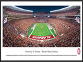Picture: Alabama Crimson Tide Bryant Denny panoramic poster professionally framed. This panorama, photographed by James Blakeway, features the recently remodeled Bryant-Denny Stadium � home to the Alabama Crimson Tide football team. When the stadium was originally built in 1929, it seated 12,000 fans. Today, after eighty-one years and seven expansions, the stadium now seats 101, 821 fans. Located on the southwestern edge of the University of Alabama campus, the history-laden stadium ranks among the nation's top five on-campus football stadiums and is a fitting backdrop to the extraordinary football history of the Crimson Tide. The University, founded in 1831 in Tuscaloosa, Alabama, has a strong academic reputation with over 28,800 students.