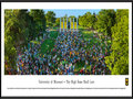 Picture: Missouri Tigers Tiger Walk panoramic print professionally framed. This panorama of Tiger Walk honors one of the cherished traditions of University of Missouri graduates. It was taken August 24, 2014, during the university�s 175th anniversary. Freshmen run through the Columns toward Jesse Hall during Tiger Walk to symbolize their entrance into the university and the start of a new academic year. MU faculty, staff and alumni volunteers greet them with Tiger Stripe ice cream, and Marching Mizzou performs a concert. The words of the university�s alma mater capture the spirit: �Proud art thou in classic beauty, of thy noble past; with thy watchwords, honor, duty, thy high fame shall last.�