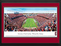 "Picture: South Carolina Gamecocks Williams-Brice Stadium panoramic print professionally double matted in team colors and framed. This panorama, taken by James Blakeway, spotlights the South Carolina Gamecocks football team living up to their unique moniker with a victory over their opponent and finishing their first sweep of the SEC East. The Gamecocks were named in honor of Thomas Sumter, a South Carolina war hero who fought during the American Revolution. Sumter was given his name, ""The Carolina Gamecock,"" for his fierce fighting tactics. South Carolina fielded its first football team in 1892, against Furman on Christmas Eve in Charleston. In 1992, the Gamecocks moved to the SEC and, in 2010, they won their first SEC Eastern Division Championship, the same year they defeated the #1 ranked team in the country."