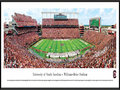 Picture: South Carolina Gamecock Williams-Brice Stadium panoramic print professionally framed. This panorama, taken by James Blakeway, captures the on-field action of the South Carolina Gamecocks football team playing at Williams-Brice Stadium. Home to the University of South Carolina Gamecocks, the Stadium is recognized as one of the finest facilities in all of college football, with a brand-new, state-of-the-art high-definition video/score board. Williams-Brice Stadium, formerly Carolina Stadium, was first constructed in 1934 and seated 17,600 fans. Today, after a number of expansions and revisions, it provides seating for 80,250 fans. Carolina annually ranks among the nation's leaders in attendance and, Gamecock fans are regarded as some of the most loyal in the country.