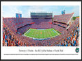 Picture: Florida Gators Ben Hill Griffin Stadium panoramic print professionally framed. This panorama, taken by James Blakeway, captures the victorious University of Florida Gators football team at Ben Hill Griffin Stadium at Florida Field. In 1989, the stadium was named in honor of citrus magnate Ben Hill Griffin, Jr., who was an alumnus and major benefactor of the University. Since its original construction in 1930, the Stadium has been renovated and expanded to its current seating capacity of 88,548 fans. It is the largest stadium in the state of Florida and one of the largest and loudest anywhere in the country. The Gators compete in the SEC Eastern Division and are one of twelve members of the SEC. Students at the University come from more than 130 countries and all 50 states.