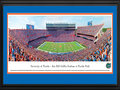 Picture: Florida Gators Ben Hill Griffin Stadium panoramic print professionally double matted in team colors and framed. This panorama, taken by James Blakeway, captures the victorious University of Florida Gators football team at Ben Hill Griffin Stadium at Florida Field. In 1989, the stadium was named in honor of citrus magnate Ben Hill Griffin, Jr., who was an alumnus and major benefactor of the University. Since its original construction in 1930, the Stadium has been renovated and expanded to its current seating capacity of 88,548 fans. It is the largest stadium in the state of Florida and one of the largest and loudest anywhere in the country. The Gators compete in the SEC Eastern Division and are one of twelve members of the SEC. Students at the University come from more than 130 countries and all 50 states.
