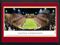 "Picture: Arizona State Sun Devils Sun Devil Stadium/Frank Kush Field 13.5 X 40 panoramic poster professionally double matted in team colors and framed to 18 X 44. This panorama, photographed by James Blakeway, captures the overtime thriller as the Arizona State Sun Devils football team defeated their ranked opponent, Missouri. Adding to the excitement of the evening, 70,236 evil fans were dressed in black to create the ""Black Out"" as the Sun Devils team debuted its new all black uniforms and helmets. Arizona State University was founded in 1885 in Tempe, Arizona. Today, the university spreads across the greater Phoenix metropolitan area and is broadly organized into 14 divisions and four campuses with annual enrollment of over 72,000 students."