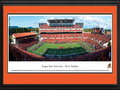 "Picture: Oregon State Beavers Reser Stadium 13.5 X 40 panoramic poster professionally double matted in team colors and framed to 18 X 44. This panorama, photographed by James Blakeway, highlights Reser Stadium as the Pac-10 Conference Oregon State Beavers football team plays before their home crowd. Since 1953, the stadium was known as Parker Stadium, named after Portland businessman Charles T. Parker. In 1999, the name was changed to Reser Stadium, in honor of Al and Pat Reser, major contributors to Oregon State athletics. After several renovations, current seating capacity is 45,674. The facility sits on the beautiful 400-acre campus located in Corvallis, Oregon. The Beavers play a rivalry game each year against the University of Oregon called the ""Civil War"". Established in 1868, Oregon State University currently enrolls more than 21,000 students."