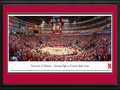 Picture: Nebraska Cornhuskers Pinnacle Bank Arena 13 X 40 panoramic print professionally double matted in team colors and framed to 18 X 44. This panorama of Pinnacle Bank Arena, taken by James Blakeway, celebrates the first game of one of the most anticipated University of Nebraska basketball seasons in program history and spotlights a sellout crowd, as the Huskers men�s basketball team begins their first season in their new home. Pinnacle Bank Arena, located in Lincoln�s historic Haymarket District, has seating capacity for 14,970 basketball fans and provides the Huskers one of the top environments in college basketball. Fans enjoyed the Game One ceremonies, including an on-court, pregame performance by the University of Nebraska Cornhusker Marching Band. Head Coach Tim Miles led his team to victory, defeating Florida Gulf Coast 79-55.