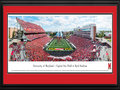 Picture: Maryland Terrapins Capital One Field at Byrd Stadium 13 X 40 panoramic print professionally double matted in team colors and framed to 18 X 44. This panorama, taken by James Blakeway, features the University of Maryland Terrapins in their Big Ten home opener against Ohio State. The Terps play their home games at Capital One Field at Byrd Stadium in College Park, Maryland. The stadium is named after Dr. H.C. Byrd, who in his 43-year career with Maryland served as the Terrapins� head football coach, athletics director and University president. Since opening on September 30, 1950, Byrd Stadium has undergone a number of major facelifts, resulting in a state-of-the-art facility with seating capacity for 51,852 fans.