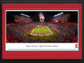 Picture: Rutgers Scarlet Knights High Point Solutions Stadium 13 X 40 panoramic print professionally double matted in team colors and framed to 18 X 44. This panorama, taken by James Blakeway, captures the action of the Rutgers Scarlet Knights football team playing their first game in the Big Ten Conference in front of a record crowd of 53,774. Rutgers is considered the Birthplace of College Football, after Rutgers and Princeton played the first intercollegiate football game in 1869. Rutgers won 6-4. The original stadium opened in 1938. The current stadium was built in 1993 on the same site, with a seating capacity of 41,500. In 2009, seating capacity was increased to 52,454. Rutgers University was established in 1766 as Queens College, is the largest university in New Jersey and is the eighth-oldest college in the United States.