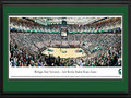 Picture: Michigan State Spartans Breslin Center 13 X 40 panoramic print professionally double matted in team colors and framed to 18 X 44. This panorama of Michigan State University � Jack Breslin Student Events Center, photographed by James Blakeway, features the Michigan State University Spartan basketball team playing Big Ten opponent, the University of Nebraska. The Breslin Center opened in 1989 as one of the premier facilities in the country, serving as home to the Michigan State men's and women's basketball programs. It seating capacity is 15,085. This $43-million facility is named in honor of Jack Breslin, who was captain of the football team in 1945, senior class president in 1946 and earned varsity letters in both baseball and basketball. He worked for the university for more than 30 years.