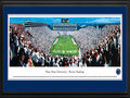 Picture: Penn State Nittany Lions Beaver Stadium 13 X 40 panoramic print professionally double matted in team colors and framed to 18 X 44. This panorama of the Penn State Nittany Lions football team playing at Beaver Stadium was taken by James Simmons. Penn State's spirit and traditions were ever apparent as Nittany Lion fans flooded Beaver Stadium in a sea of white for the annual White Out Game. Penn State traditions also include the athletic symbol chosen by the student body in 1906; it is the mountain lion which once roamed central Pennsylvania. Since Penn State is located in the Nittany Valley at the foot of Mount Nittany, the lion was designated as a Nittany Lion. In regional folklore, Nittany was a valorous Indian princess in whose honor the Great Spirit caused Mount Nittany to be formed. Penn State was established in 1855.
