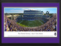 Picture: TCU Horned Frogs Amon G. Carter Stadium 13 X 40 panoramic print professionally double matted in team colors and framed to 18 X 44. This panorama, taken by Christopher Gjevre, features the opening kickoff of the TCU Horned Frogs' inaugural game in the new Amon G. Carter Stadium on September 8, 2012. The Horned Frogs defeated Grambling State 56-0, giving Gary Patterson his 110th victory at TCU and making him the school's all-time winningest head football coach. The historic game also marked TCU's first football game as a member of the Big 12 Conference.