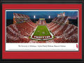 Picture: Oklahoma Sooners Gaylord Family-Oklahoma Memorial Stadium 13 X 40 panoramic print professionally double matted in team colors and framed to 18 X 44. This panorama, taken by Robert Pettit, spotlights the Oklahoma Sooner football team playing its second home game of the season against the Tennessee Volunteers at Gaylord Family-Oklahoma Memorial Stadium. Sooner fans were out in force and showed their passion and support at this nationally televised event by �Striping the Stadium,� with even-numbered sections wearing crimson and odd-numbered sections wearing white. Oklahoma�s football program began in 1895, with the team called Rough Riders or Boomers, before changing their nickname to Sooners in 1908. The Oklahoma Sooners hold the record for the longest winning streak in Division I-FBS history.