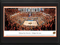 "Picture: Oklahoma State Cowboys Gallagher-Iba Arena 13 X 40 panoramic print professionally double matted in team colors and framed to 18 X 44. This panorama of Gallagher-Iba Arena, taken by James Blakeway, captures the excitement of the Oklahoma State University Cowboys basketball team playing on their home court. Originally completed in 1938, Gallagher Hall was named to honor wrestling coach Ed Gallagher. After renovations in 1987, it was renamed Gallagher-Iba Arena, in honor of former basketball coach and innovator Henry Iba. The original white maple floor remains the oldest basketball court currently in use. Nicknamed the ""Madison Square Garden of the Plains,"" the arena seats 13,611 fans. Established in 1890, the University enrolls over 20,000 students on its Stillwater, Oklahoma campus."