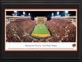 Picture: Oklahoma State Cowboys Boone Pickens Stadium 13 X 40 panoramic print professionally double matted in team colors and framed to 18 X 44. This panorama, taken by James Blakeway, captures the biggest college football rivalry in the state of Oklahoma. Known as the Bedlam football game, the annual battle is between the Oklahoma State University Cowboys and the University of Oklahoma. Like most other intrastate rivalries, the Bedlam Series goes beyond football. It began more than 100 years ago with the rivalry between the two schools' prestigious wrestling programs. Today, football and basketball games stand out as the marquee events. This Bedlam football game was hosted by the Cowboys at Boone Pickens Stadium but regardless of location, Bedlam is for Oklahoma bragging rights and is one of the most intense games of the year.