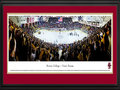 Picture: Boston College Eagles Conte Forum 13 X 40 panoramic print professionally double matted in team colors and framed to 18 X 44. This panorama, taken by Christopher Gjevre, spotlights the excitement at Conte Forum/Kelley Rink as the Boston College Eagles men's hockey team plays for a win against the Notre Dame Fighting Irish. With the victory, the Eagles captured the coveted Snooks Kelley � Lefty Smith Trophy, awarded the winner between the Boston College � Notre Dame hockey classic. Boston College is among the top college hockey programs in the country and has established itself as a perennial powerhouse in both regular season and post-season play. Boston College was established in 1863 and is located in Chestnut Hill, Massachusetts.