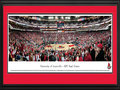 Picture: Louisville Cardinals KFC Yum Center 13 X 40 panoramic print professionally double matted in team colors and framed to 18 X 44. This panorama, taken by Christopher Gjevre, captures the crowd excitement as the Louisville Cardinals basketball team plays their first regular season game at the new KFC Yum! Center. Built on the Ohio River in Louisville, Kentucky, the new KFC Yum! Center is a $238 million basketball and multipurpose arena. It is the fifth largest college basketball arena in the nation. The Louisville Cardinals basketball has a tradition of success, which is reflected in average home game attendance ranked among the top five nationally. The University, founded in 1798, was the first city-owned public university in the United States, with annual enrollment of over 22,000 students.