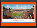 Picture: Virginia Cavaliers Scott Stadium 13 X 40 panoramic print professionally double matted in team colors and framed to 18 X 44. This panorama of the University of Virginia's Scott Stadium was taken by Nathan Haler. Scott Stadium's Pergola Plaza and grass hillside help make it one of the nation's most picturesque football stadiums. Located in Charlottesville, Virginia, Scott Stadium opened on Oct. 15, 1931 with a seating capacity of 22,000. The stadium was built thanks to a gift from Frederic and Elisabeth Scott, and was dedicated to the memory of his parents. In addition to serving as the home of Cavalier football, Scott Stadium has hosted performances from the Dave Matthews Band, the Rolling Stones and U2. After several expansion projects, the stadium's capacity is now 61,500.