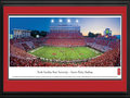 Picture: North Carolina State Wolfpack Carter-Finley Stadium 13 X 40 panoramic print professionally double matted in team colors and framed to 18 X 44. This panorama of Carter-Finley Stadium was taken by James Blakeway during a North Carolina State University Wolfpack football game. The stadium, located on NC State's West Campus, is named in honor of Albert Finley and Nick and Harry Carter, all former students and major supporters of Wolfpack Athletics and NC State University. Originally constructed in 1966, Carter-Finley Stadium has a capacity of 57,583 and is one of the most comfortable venues in all of college football. The Wolfpack, affiliated with the Atlantic Coast Conference, competes against some of the best football teams in the country. With more than 31,000 students, NC State University offers more than 100 majors and programs.