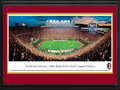 Picture: Florida State Seminoles Bobby Bowden Field at Doak S. Campbell Stadium 13 X 40 panoramic print professionally double matted in team colors and framed to 18 X 44. This panorama, taken by James Blakeway, features the Florida State Seminoles football team during a game at Bobby Bowden Field in Doak S. Campbell Stadium. The stadium, named after former Florida State University President Doak S. Campbell, opened in 1950 with a seating capacity of 15,000 and is now home to over 84,000 fans. In 2004, the field was named Bobby Bowden Field, dedicated in honor of the legendary head football coach, who has compiled an outstanding home winning percentage. The top-ranking Florida State Seminoles are members of the Atlantic Coast Conference. Florida State University, located in Tallahassee, Florida, was established in 1851 and has an annual enrollment of over 41,000 students.