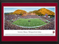 Picture: Montana Grizzlies Washington-Grizzly Stadium 13 X 40 panoramic print professionally double matted in team colors and framed to 18 X 44. This panorama of Washington-Grizzly Stadium was taken by Robert Pettit. It captures the University of Montana Grizzlies playing their first regular season game against the Appalachian State Mountaineers in front of a sellout crowd of 26,293 fans. Washington-Grizzly Stadium sits at the base of Mount Sentinel next to the Clark Fork River in the picturesque city of Missoula, Montana. The Griz won the 1995 and 2001 National Championships in Division I Football Championship Subdivision Football, formally known as Division I-AA. The University of Montana Grizzlies played their first football game in 1897 and are one of the founding members of the Big Sky Conference.