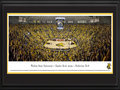"Picture: Wichita State Shockers Charles Koch Arena ""Perfection"" 13 X 40 panoramic print professionally double matted in team colors and framed to 18 X 44. This panorama, taken by James Simmons, captures the electric environment at a sold out Charles Koch Arena, as the Wichita State Shockers complete a perfect 31-0 season, for the first time in collegiate basketball history. The Shockers finished their stunning season with a 68-45 win over the Missouri State Bears on March 1, 2014. With their �Play Angry� motto perfectly describing the Shockers� style, the team redefined dominance and won the Missouri Valley Conference regular season title by six games. Wichita State is emblematic of the gutsy, blue-collar city in Kansas it represents."