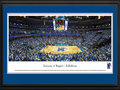 Picture: Memphis Tigers FedExForum 13 X 40 panoramic print professionally double matted in team colors and framed to 18 X 44. This panorama, taken by James Blakeway, spotlights the Memphis Tigers playing in front of a sold out crowd at FedExForum against their long-time rival, the Louisville Cardinals. Memphis came from behind with less than five minutes remaining to claim a 72-66 victory in front of 18,375 fans, one of the largest Tigers� crowds in FedExForum history. With the win, Memphis swept the regular season series from Louisville for the first time since 1996-1997. The Memphis Tigers men�s basketball team played their first season in 1920.
