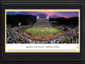 "Picture: Appalachian State Mountaineers Kidd Brewer Stadium 13 X 40 panoramic print professionally double matted in team colors and framed to 18 X 44. This panorama, taken by James Blakeway, highlights the on-field action of the Appalachian State Mountaineers football team as they play their season home opener at Kidd Brewer Stadium. Nestled in the Blue Ridge Mountains in North Carolina, Kidd Brewer Stadium is considered one of college football's most picturesque settings. The Stadium opened in 1962 as Conrad Stadium and was renamed in 1988, in honor of Kidd Brewer. Nicknamed ""The Rock,"" it officially seats 24,050 fans, though frequently holds more than 30,000 spectators. The Mountaineers were the NCAA Division I Football National Champions from 2005-2007."