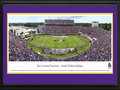 Picture: East Carolina Pirates Dowdy-Ficklen Stadium 13 X 40 panoramic print professionally double matted in team colors and framed to 18 X 44. This panorama, taken by Christopher Gjevre, showcases the East Carolina Pirates victory over the North Carolina Tar Heels in front of a record crowd of 51,082 fans, in their inaugural year with the American Athletic Conference. Game days at ECU are one of the most unique atmospheres in all of college football. The social event of tailgating� the purple smoke filled team entrance� raising the ECU Jolly Roger in pregame� a unified stadium chanting �First Down Pirates�� and raising the ECU No Quarter flag to start the 4th quarter. The pageantry of Purple and Gold passion and spirit surrounding Bagwell Field at Dowdy-Ficklen Stadium is a distinctive ECU Pirate Tradition.
