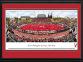 Picture: Eastern Washington Eagles Roos Field 13 X 40 panoramic print professionally double matted in team colors and framed to 18 X 44. You may know the blue turf, but now you can see the red turf! This panorama, taken by Christopher Gjevre, captures the action of the Eastern Washington University football team playing its inaugural game on its new red Sprinturf surface at newly re-named Roos Field (formerly Woodward Field). The opponent for the Eagles on this historic day on September 18, 2010, was its Big Sky Conference rival, the University of Montana Grizzlies. The Eagles broke a 27-all tie with a field goal with four seconds remaining, then iced the victory on the final play of the game with a 34-yard fumble return for a touchdown. The final score of 36-27 will go down as one of the greatest victories in school history. Established in 1882, the University's main campus is located in Cheney, Washington.